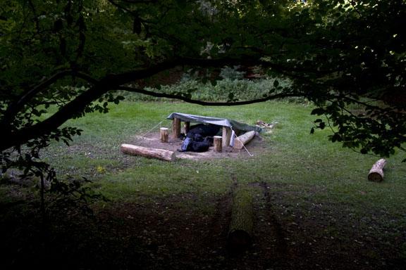 På primitiv stroppetur i Grib Skov. Fotograf: Claus Preis