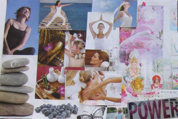 Yoga power. Udsnit af collage. Fotograf: Susanne Randers