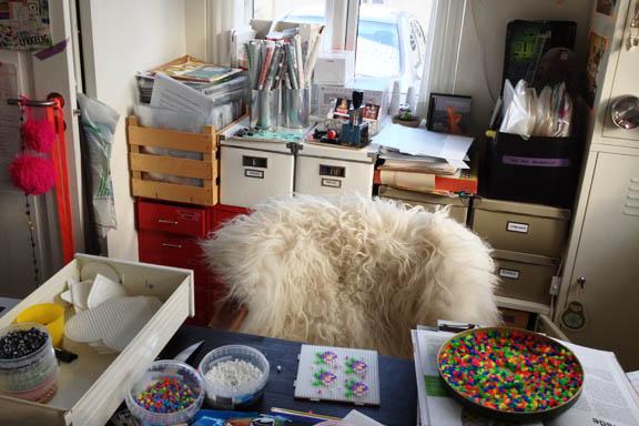 Mit krearum - med kreativt rod. Fotograf: Susanne Randers
