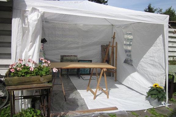 Spraylounge i haven - opført af havepavillon fra Harald Nyborg. Fotograf: Susanne Randers