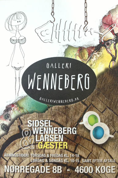Galleri Wenneberg i Køge. Postkort. Fotograf: Susanne Randers