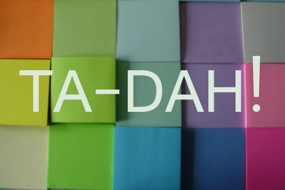 Ta-dah lister - og post its. Fotograf: Susanne Randers