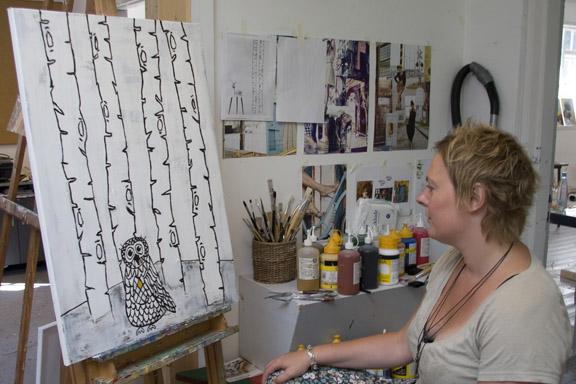 Hvad har jeg lyst til? Hvad har mit kreative uglebarn lyst til? Malerkursus på Grundtvigs Højskole 2010.