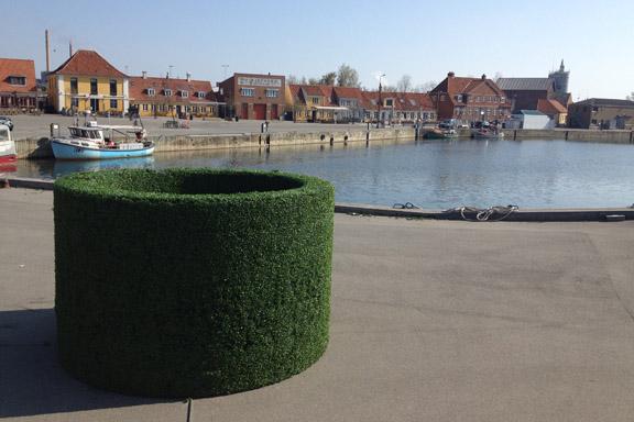 En roterende HÆK på havnefronten skabt af Søren Dahlgaard. Fotograf: Susanne Randers