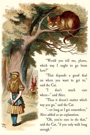 Alice i eventyrland og filurkatten. Illustration hentet fra http://www.bookstellyouwhy.com/pictures/19356.jpg
