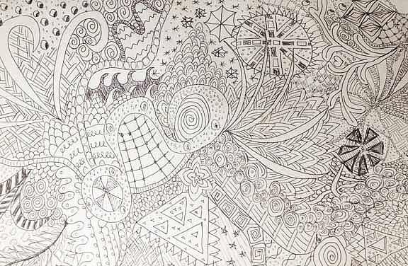 Doodle. Tegnet af Susanne Randers
