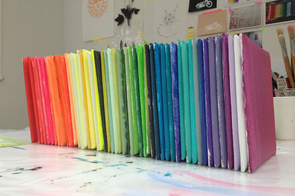 mitkrearum.dk kreativitet 105 kunsthøjskolen i holbæk 15x15 kakler regnbue række hvilken farve i regnbuen er du