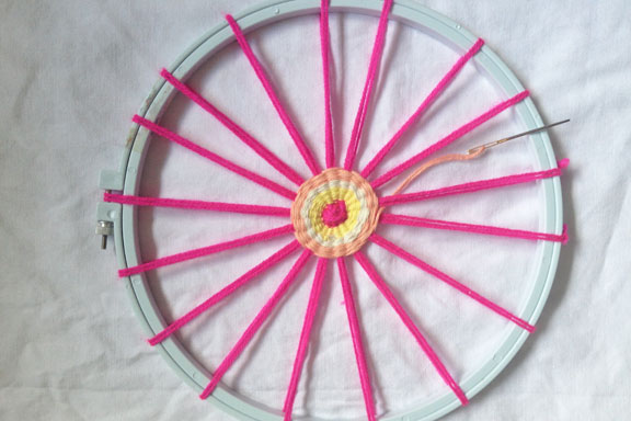 mitkrearum.dk kreativitet 93 garn mandela pink gul laks 2