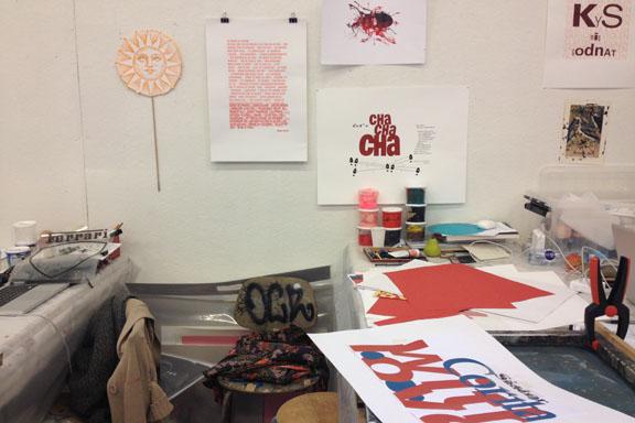 mitkrearum.dk kreativitet 107 kunsthøjskolen i holbæk serigrafiske værker in progress af mine medkursister 2