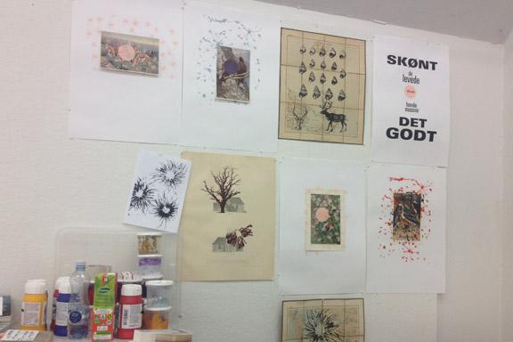 mitkrearum.dk kreativitet 107 kunsthøjskolen i holbæk serigrafiske værker in progress af mine medkursister 5