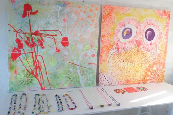 mitkrearum.dk kreativitet 110 mit krearum hos Galleri Anne Julie malerier og smykker