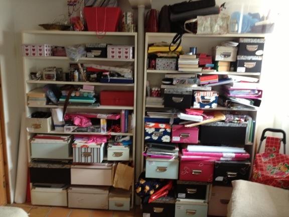 Mit værelse på Læsø er fyldt med kreagrej - nærmest ligesom derhjemme... Fotograf: Susanne Randers