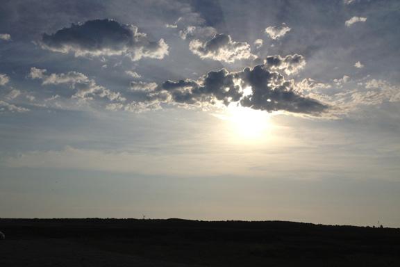 mitkrearum.dk kreativitet 111 læsø morgentur til stokken solen leger med skyerne