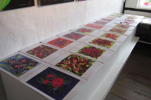 mitkrearum.dk kreativitet 112 galleri anne julie piber malerier og livskunst på læsø blomstertryk A4