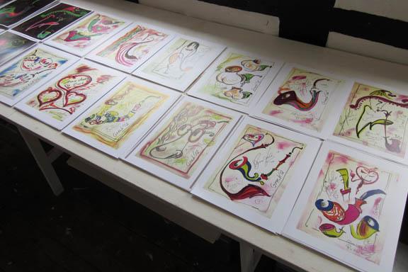 mitkrearum.dk kreativitet 112 galleri anne julie piber malerier og livskunst på læsø hvide tryk A4