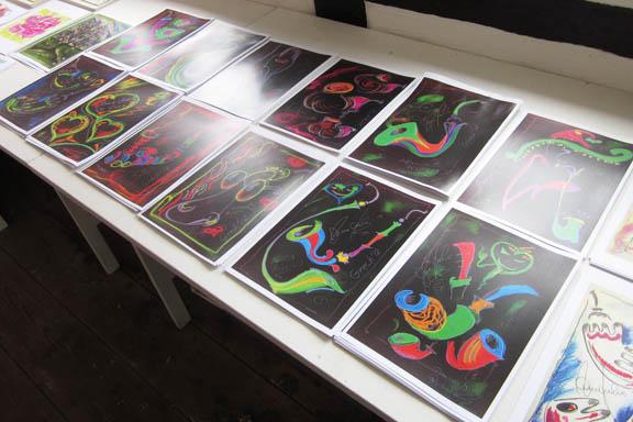 mitkrearum.dk kreativitet 112 galleri anne julie piber malerier og livskunst på læsø sorte tryk A4