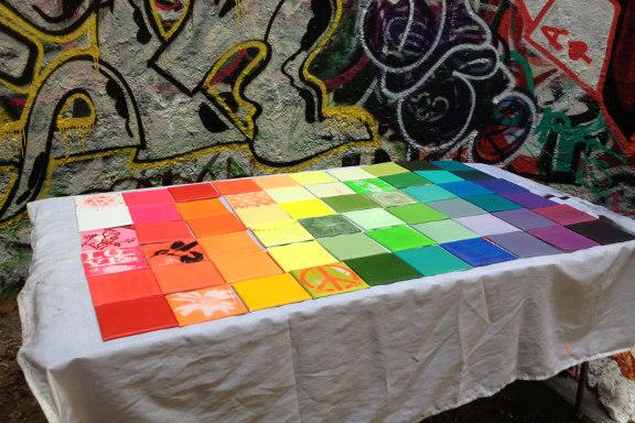 mitkrearum.dk kreativitet 127 kunsthøjskolen i holbæk spraylounge regnbuekakler in progress susanne randers