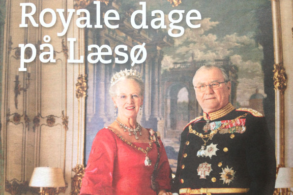 Royale dage på Læsø 3. september. Udsnit af foto af annoncetillæg til Nordjyske Stiftstidende