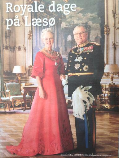 Royale dage på Læsø 3. september. Foto af annoncetillæg til Nordjyske Stiftstidende