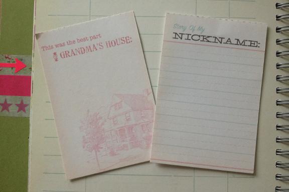 """Smashbook journal """"Pink Pretty Style"""". Tilfældigt opslag med accessories indstikskort. Fotograf: Susanne Randers"""