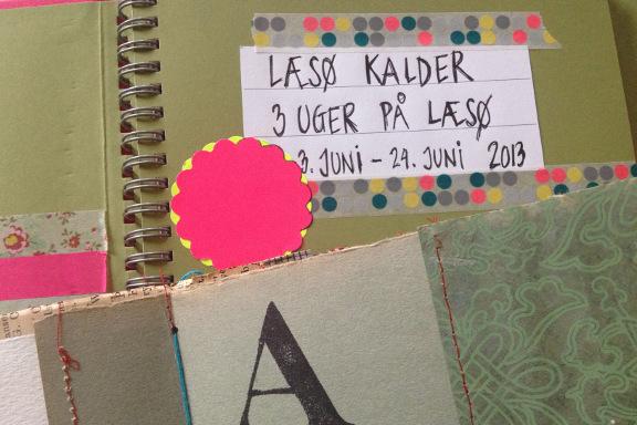 Starten på min smashbook om Læsø Kalder. Fotograf: Susanne Randers
