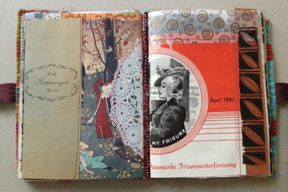"""""""Book af Scraps"""" kreeret af Birthe Juel Lindhardt. Smashbook / art journal. Fotograf: Susanne Randers"""