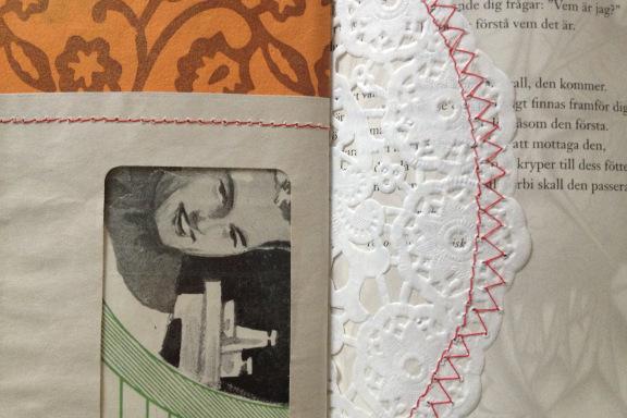 """""""Book af Scraps"""" kreeret af Birthe Juel Lindhardt. Smashbook / art journal. Close up. Fotograf: Susanne Randers"""