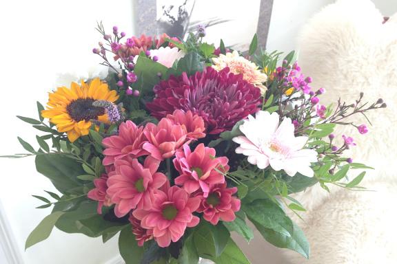 """Eye Candy: """"Bare fordi"""" blomsterbuket fra min kæreste. Fotograf: Susanne Randers"""