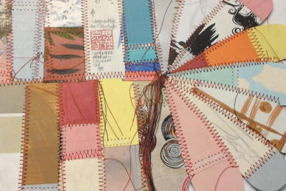 """""""Concrete 2 Canvas: More Skateboarders Art"""" bog af Jo Waterhouse. Udsnit af forside illustreret af Thomas Campbell. Fotograf: Susanne Randers"""