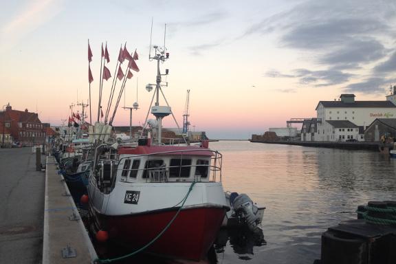 Solnedgang og smukt stilleben på Køge Havn. Fotograf: Susanne Randers