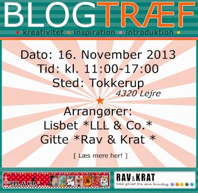 Vil du med til blogtræf 16. november 2013  hos *LLL&Co.*?