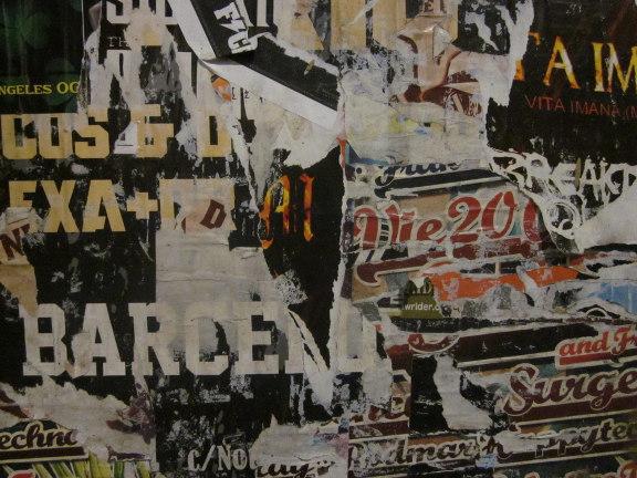 Lag på lag plakatvæg fra Barcelona. Fotograf: Susanne Randers