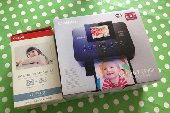 Canon Selphy CP900 fotoprinter samt color ink / paper set KP-108IN. Fotograf: Susanne Randers