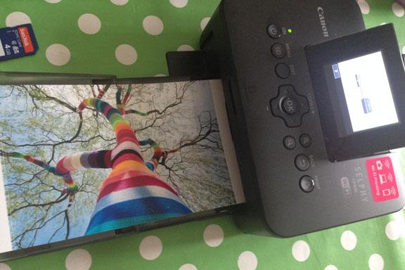 Canon Selphy CP900 fotoprinter. Voila: Det færdige billede. Fotograf: Susanne Randers
