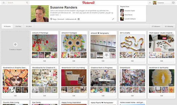 Boards / opslagstavler på Pinterest: mitkrearum / Susanne Randers