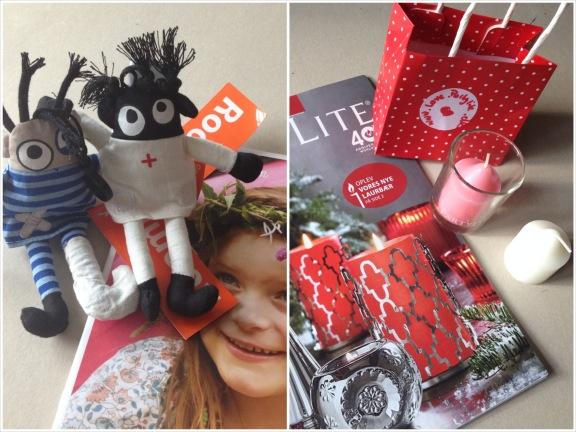 Hyggelige gaver til blogtræffet fra Roommate og Partylite. Fotograf: Susanne Randers