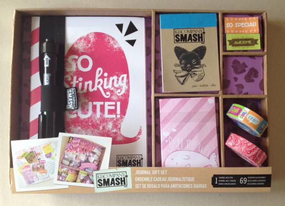 """SMASHBOOK journal gift set """"So Stinking Cute!"""" netop hjembragt fra USA. Fotograf: Susanne Randers"""
