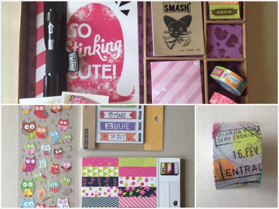 SMASHBOOK kit, uglelabels, grafisk papir med neonfarver og maskingtape. Direkte importeret fra USA. Fotograf: Susanne Randers