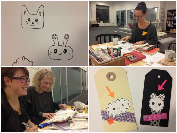 Et udsnit af mine kawaii kreationer - og fotos rundt om arbejdsbordet af Puk, Camilla og Charlotte. Fotograf: Susanne Randers