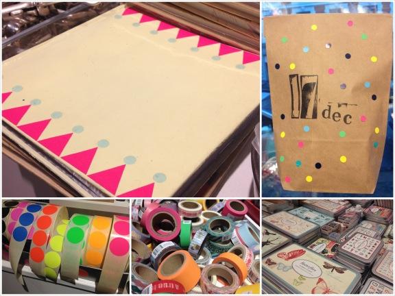 En notesbog har fået en makeover med maling, stickers og dots. Butikken bugner af stickers, maskingtape og smukke stempler. Fotograf: Susanne Randers