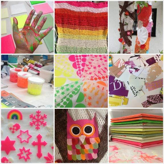 Min mission er at leve kreativt. Collage med udvalgte kreationer fra 2013. Fotograf: Susanne Randers