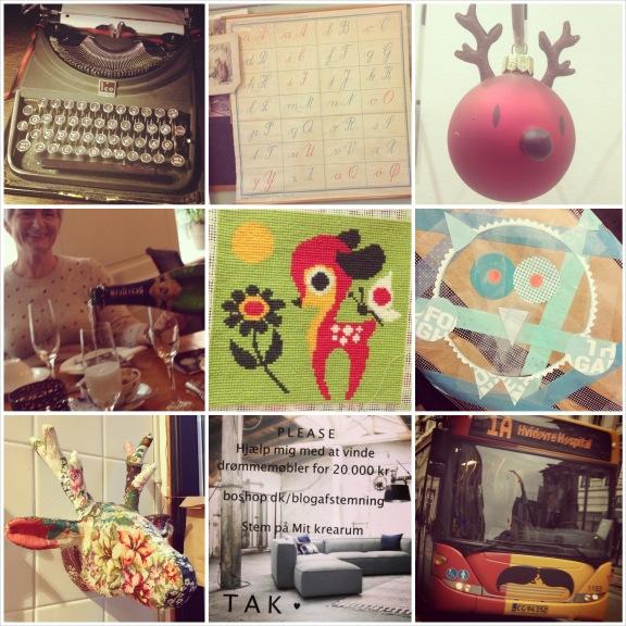 Collage af mine Instagrambilleder fra uge 45 2013. Fotograf: Susanne Randers