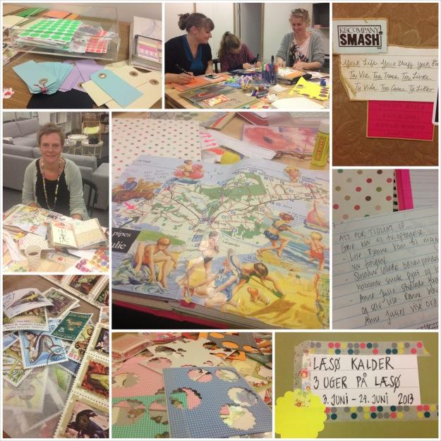 Smashbook workshop i Dankbar. September 2013. Fotograf: Susanne Randers