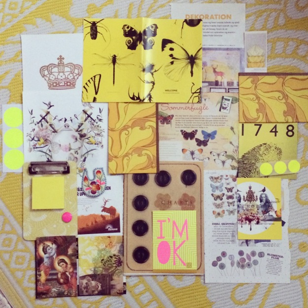 365 mood boards in 2014. Mood board #13: Felling yellow and ready to fly. Instagram filter Valencia. Photographer: Susanne Randers