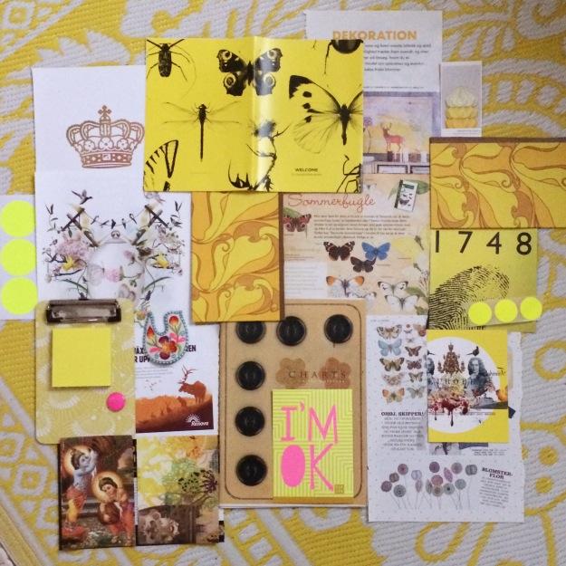 365 moodboards i 2014. Moodboard #13: Føler mig gul og klar til at flyve. Fotograf: Susanne Randers