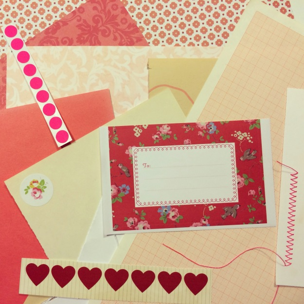 365 mood boards in 2014. Moodboard #20: Home sewn romantic red notebook. Instagram filter Valencia. Photographer: Susanne Randers