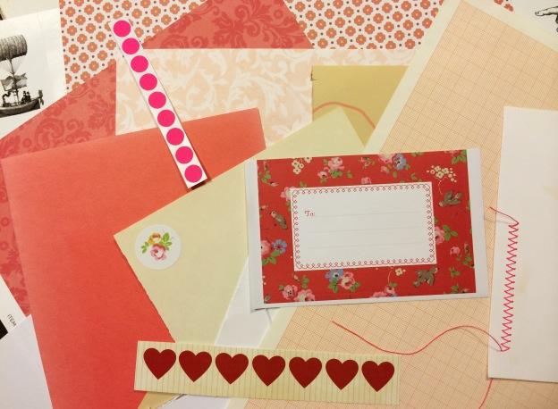365 moodboards i 2014. Moodboard #20: Hjemmesyet romantisk rød notesbog. Smashup. Fotograf: Susanne Randers