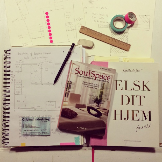 365 mood boards in 2014. Mood board #22: Drawing, dreaming, reading and decorating. Smashup. Instagram filter Valencia. Photographer: Susanne Randers