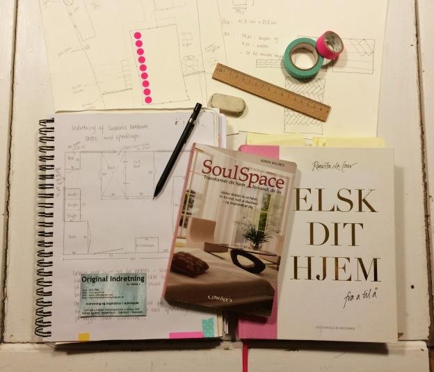 365 moodboards i 2014. Moodboard #22: Tegner, drømmer, læser og indretter. Smashup. Fotograf: Susanne Randers