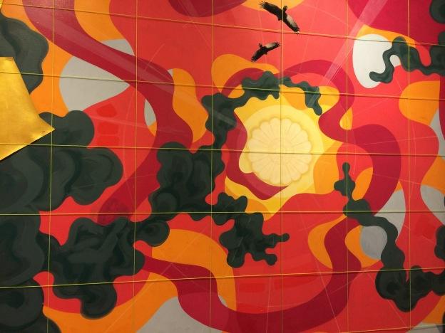 365 moodboards i 2014. Moodboard #25: Forarbejde til Eske Kaths loftsmaleri i Kronprinsesse Marys mødelokale. Inspirationsvæg udstillet på KØS. Fotograf: Susanne Randers